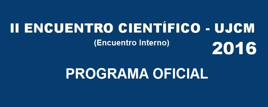 PROGRAMA DEL II ENCUENTRO CIENTÍFICO UJCM