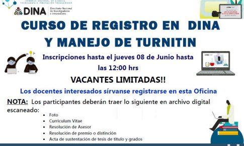 TALLER DE CAPACITACIÓN DE REGISTRO EN EL DINA Y PROCEDIMIENTOS ANTI PLAGIO