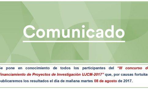 RESULTADOS DEL III CONCURSO DE FINANCIAMIENTO