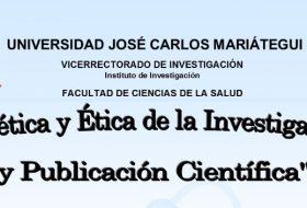 CURSO DE BIOÉTICA Y ÉTICA DE LA INVESTIGACIÓN Y PUBLICACIÓN CIENTÍFICA