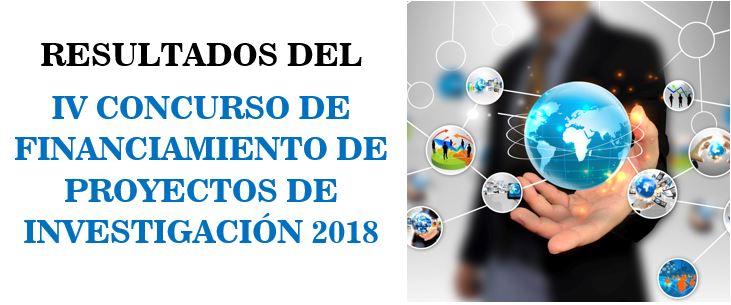 RESULTADOS DEL IV CONCURSO DE FINANCIAMIENTO DE PI – 2018