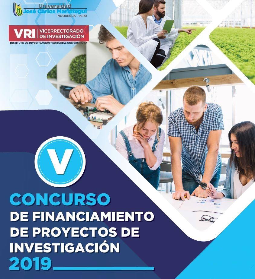 V CONCURSO DE FINANCIAMIENTO DE PROYECTOS DE INVESTIGACIÓN
