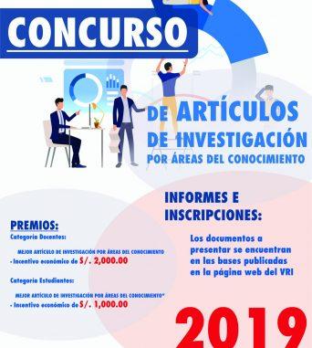 CONCURSO DE ARTÍCULOS DE INVESTIGACIÓN POR ÁREAS  DEL CONOCIMIENTO-2019